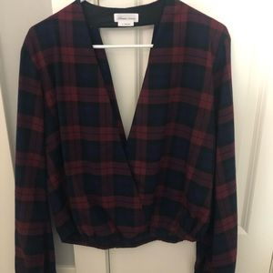 Lovers and Friends plaid top